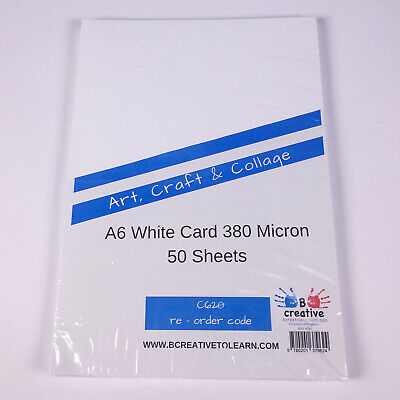 A6 White Card Postcard Size Blank Card Crafting Thick Card 50 sheets 300gsm 4