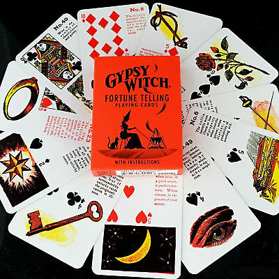 Gypsy Witch Tarot Deck Playing Cards Us Games Systems With Velvet Bag New 4