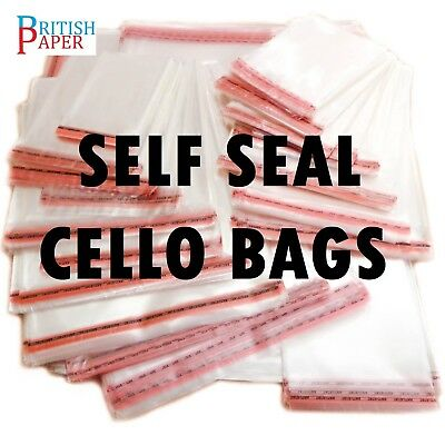 New Clear Cellophane Bags Small Large Self Seal Cello Gift Sweet Party For Cards 6