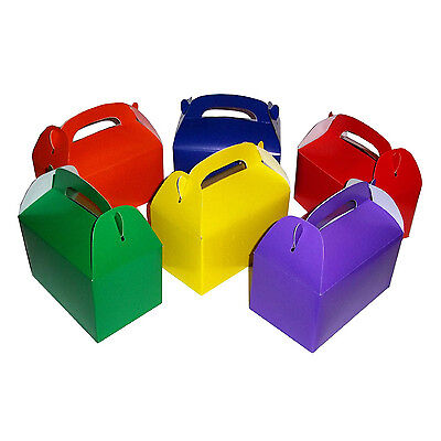 12 Assorted Bright Color Treat Boxes Birthday Party Favors Baby Shower Favor Box