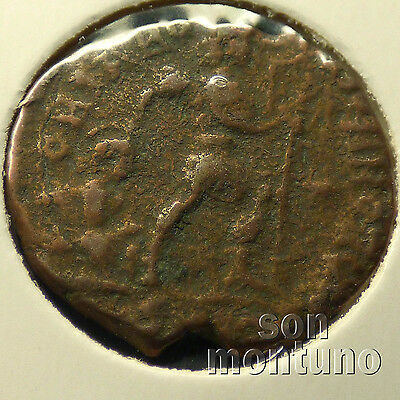 First Christian Empire ROMAN BRONZE COIN Genuine Ancient Antique from 306-410 AD 9