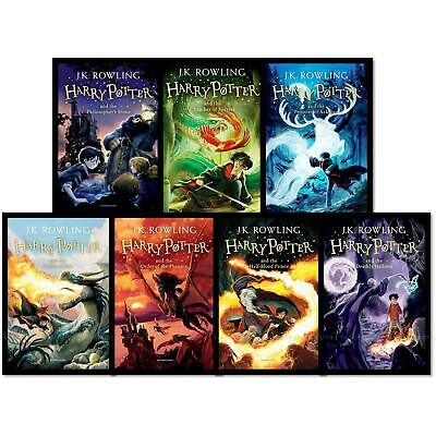 Harry Potter The Complete Collection by J.K. Rowling Children 7 Books Box Set 4