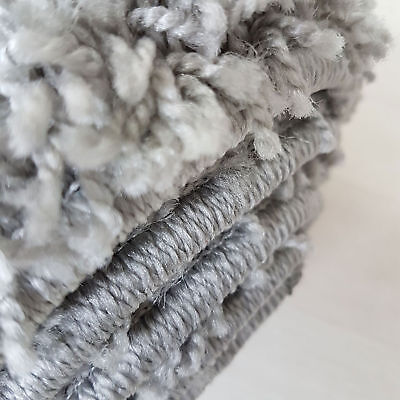 Small X Large Size Grey Thick Plain Soft Shaggy Non Shed Rug Modern Carpet Rugs 8