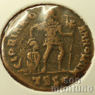 First Christian Empire ROMAN BRONZE COIN Genuine Ancient Antique from 306-410 AD 3