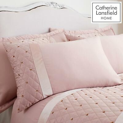 Catherine Lansfield Sequin Cluster Blush Luxury Duvet Cover Set or Accessories 2