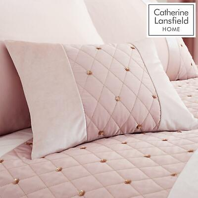 Catherine Lansfield Sequin Cluster Blush Luxury Duvet Cover Set or Accessories 7