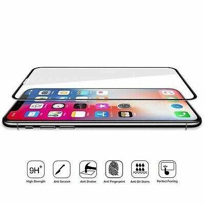 10D Complet Housse Protection Écran en Verre Trempé pour Iphone 7 8 X XR XS Max 4