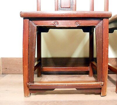 Antique Chinese Ming Chairs (5435) (Pair), Zelkova Wood, Circa 1800-1949 5
