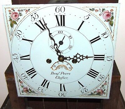 ~ Antique Oak & Mahogany Grandfather Longcase Clock BENJAMIN PEERS CHESTER 5