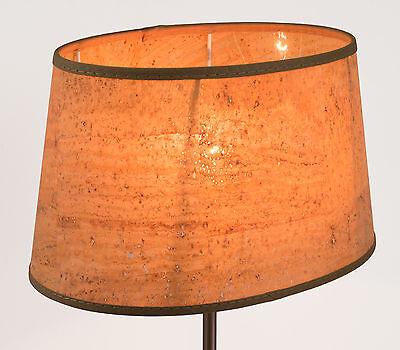 Lampenschirm aus kork naturmaterial oval e27 e14 natur for Lampenschirm tischlampe