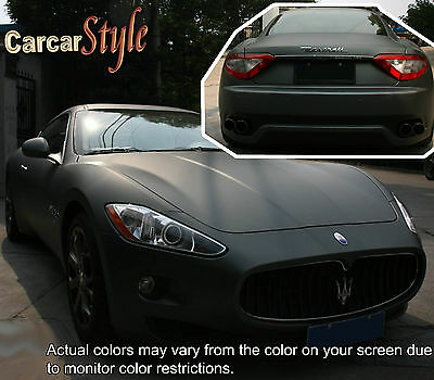 【MATT】Vehicle Wrap Vinyl【100mm(3.9in)x 200mm(7.9in)】Air/bubble Free Film Sticker