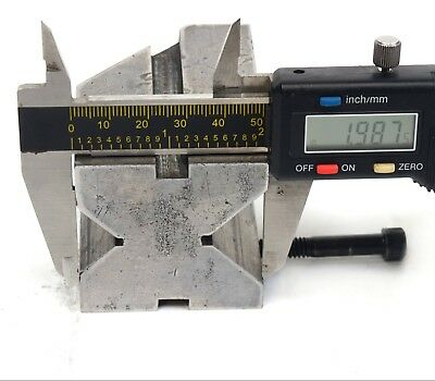 """1 9/32"""" x 2"""" x 2.789"""" Precision Machinist Milling V Block with Security Bolts 8"""