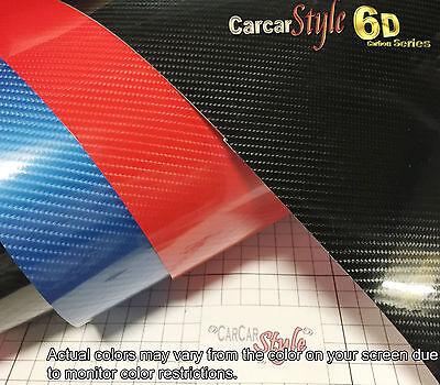 6D Gloss  【1520MM X 300MM】 Carbon Fibre Vinyl Wrap Film Sticker 5D Upgraded