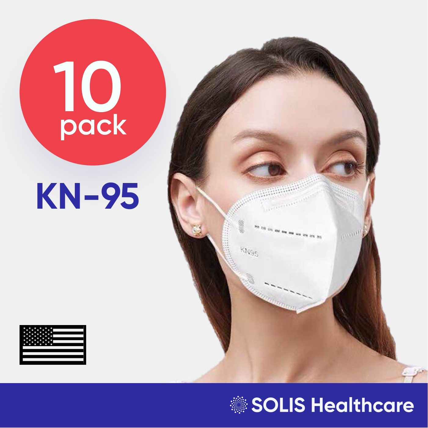 10 Pack KN95 Certified High-Performance 5-Layer Respirator Face Mask Disposable 5