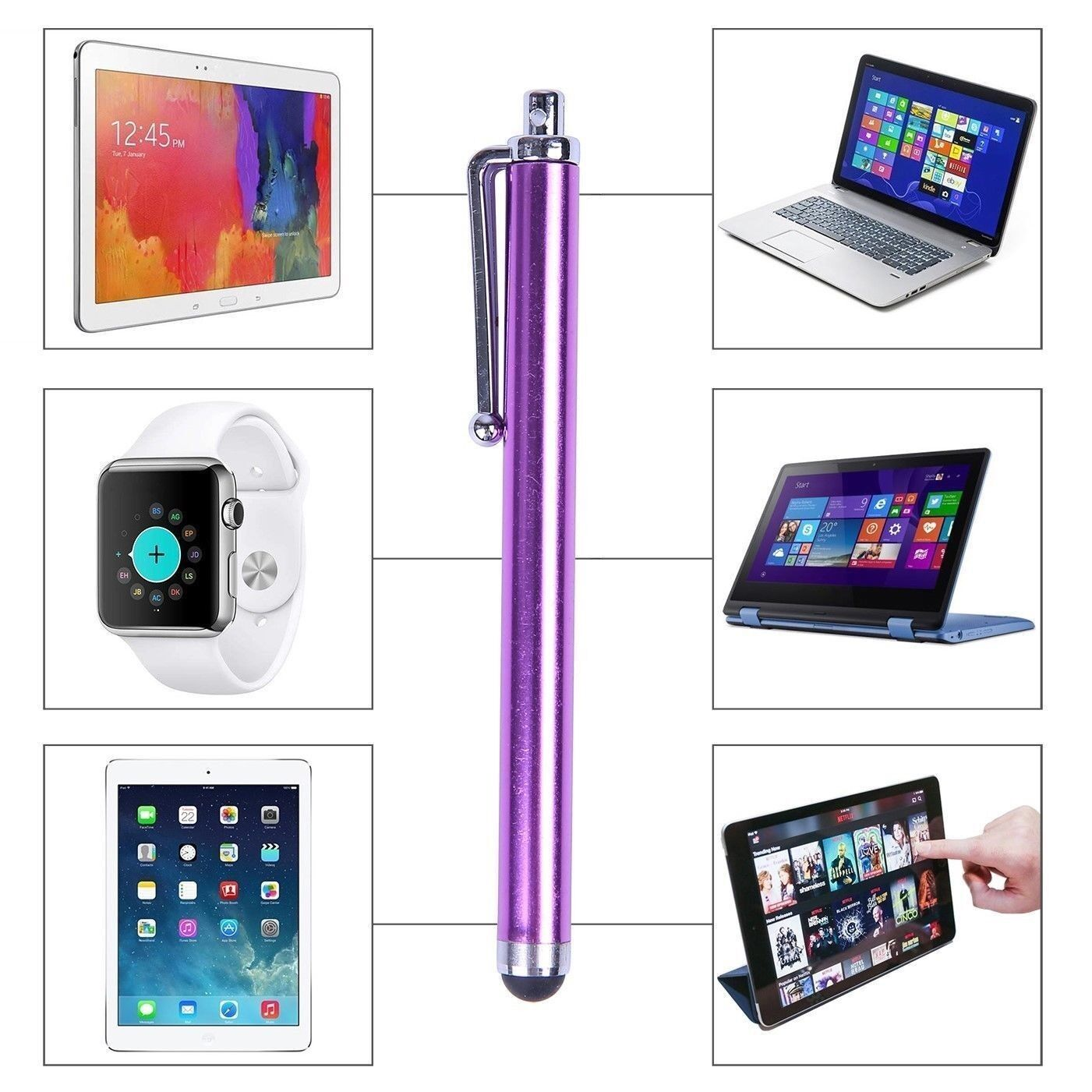 2X Metal Universal Stylus Pen Touch Screen For Tablet Mobile Phone iPad iPod PC 2