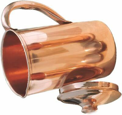 Pure Copper Smooth Water Jug/Copper Pitcher for Ayurveda Health Benefit 100% NEW 3