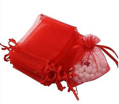 50/100 Organza Wedding Xmas Party Favor Gift Candy Bags Jewellery Packing Pouch 8