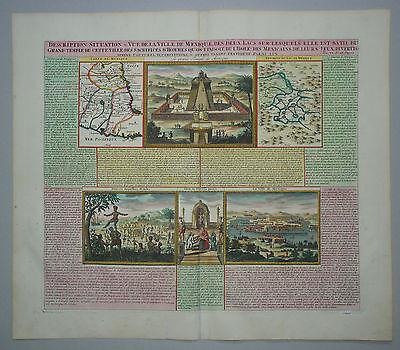 Chatelain - Mexiko - Description, Situation & Vue De La Ville De Mexique - 1719