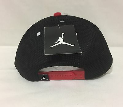 1583bad5716 ... Nwt Youth Nike Jordan Jumpman 23 Snap Back Cap Black red 8 20 4