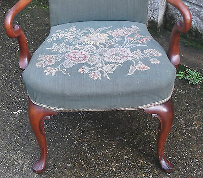 Superb Victorian Walnut Tapestry Armchair Very Clean Delivery Available 5