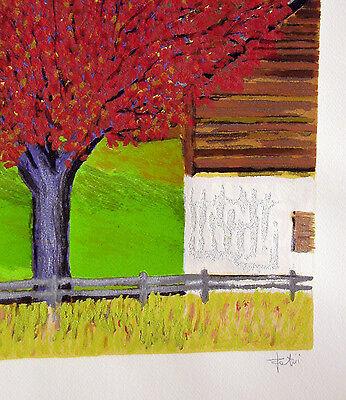 """GIANCARLO FANTINI- """"L'albero""""  - Serigrafia POLIMATERICA cm 50x70 4"""