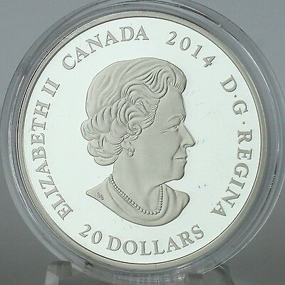 Canada 2014 $20 Stained Glass: Casa Loma, 1 oz. Pure Silver Coin, #2 in Series 7