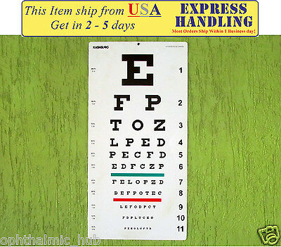 Snellen And Kindergarten Wall Eye Chart Size 22 X 11 Pack Of 2 Chart