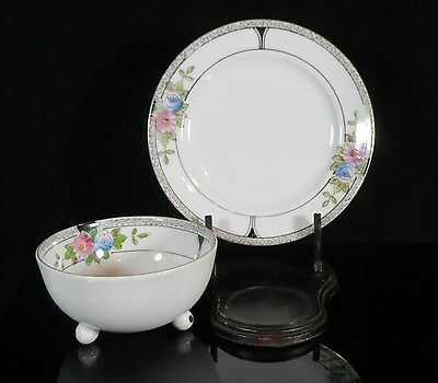 Footed Bowl and Underplate - Noritake/Morimura - Footed Bowl - Art Deco 4