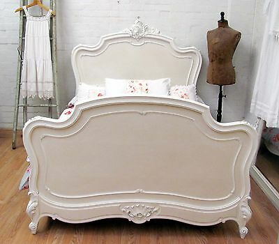 Stunning Antique French Double Rococo Crested Bed - C1920 2