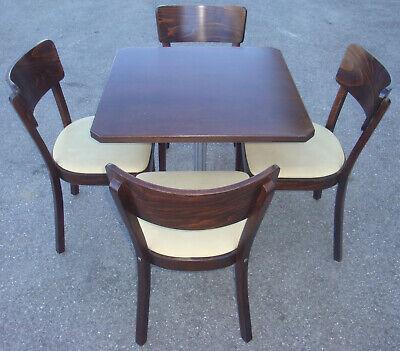 HOCHW FA. MAY Bistro Sitzgruppe Gastro Tisch 4 Leder Stühle