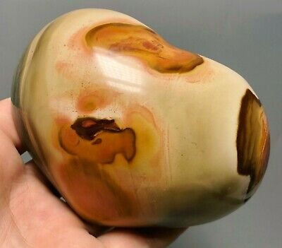 Polished POLYCHROME JASPER HEART Reiki Healing Palm Stone - Madagascar 3