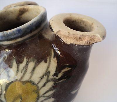1800's Antique Trio Spouts Persian Vase , Handpainted Ceramic Islamic Art 5