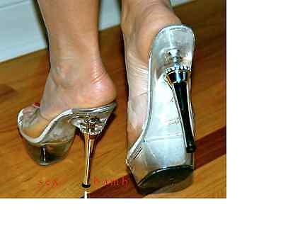SEXY sabot SANDALI TRASPARENTI tacco STRASS 14 dal 35 al 43 fashion GLAMOUR ! 4