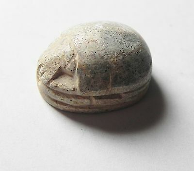 Zurqieh - Aac164- Exteremly Rare Inscribed Phoenician Steatite Scarab 8-7Th B.c 2
