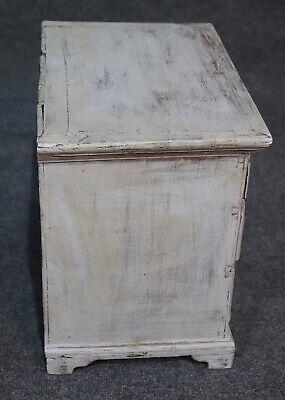 Rare Antique 1840s Era Salesmans Sample Painted Dresser Jewelery Box 4