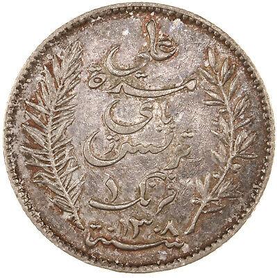 Raw 1891-A Tunisia 1 Franc Uncertified Ungraded Silver Tunisian Coin 3