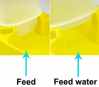 TRIXES Automatic Pet Food Water Dispenser Pet Feeder Bowl 2