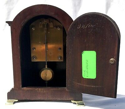 Antique W&H Winterhalder Hofmeier Bracket Mantel Clock Robert Jones Liverpool 6