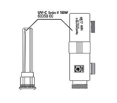 JBL AquaCristal UVC 18 Watt Ersatzquarzglas mit Gehäuse Original Ersatzteil 2
