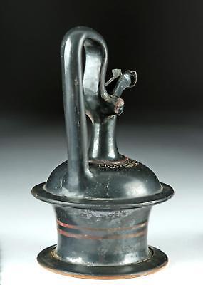 Choice Greek Apulian Black-Glazed Pottery Epichysis Lot 23B