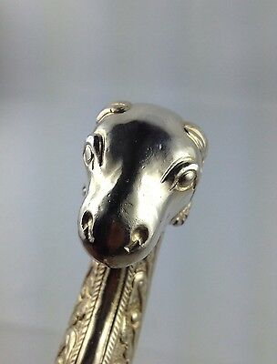 Vintage Mughal Islamic Ram's Head Silver  Carved Hand Made Handel Collectible 7