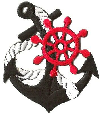 Ecusson patche Marine Navy Ancre thermocollant patch marin bateau brodé 2