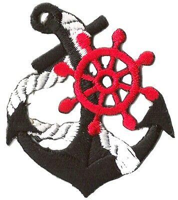 Ecusson patche Marine Navy Ancre thermocollant patch marin bateau brodé 2