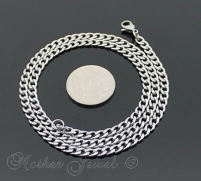 50Cm Silver 316L Stainless Steel 4.5Mm Curb Chain Mens Womens Unisex Necklace 3