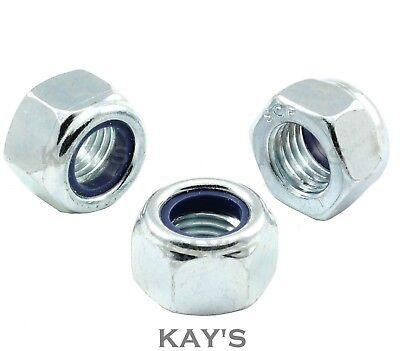 Unf Nyloc Nuts Insert Locking Zinc Plated 1/4,5/16,3/8,7/16,1/2,9/16,5/8,3/4,7/8
