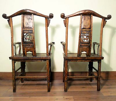 Antique Chinese High Back Arm Chairs (5511) (Pair), Circa 1800-1849 11