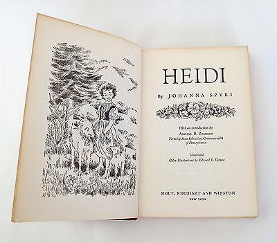 Heidi By Johanna Spyri Vintage 1961  Illustrated Book The Childrens Classics 2