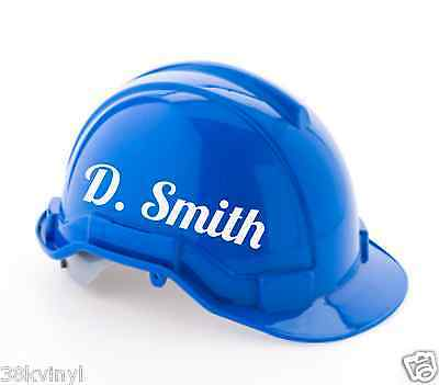 2 of 6 personalised hard hat stickers custom name sticker for builders safety helmet