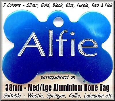 PET ID Dog & Cat Id Name - Disc Tags Coloured Aluminium Cheapest PRICE! ENGRAVED 3