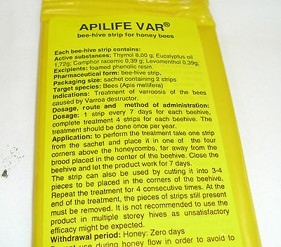 APILIFE VAR varroa treatment  2 sachets (4 biscuits) 5